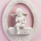 Angels Welcome Here Cherub Wall Plaque