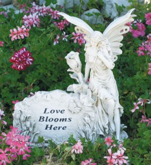 Fairy Love Blooms Here Garden Ornament