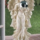Angel With Gazing Ball Statue