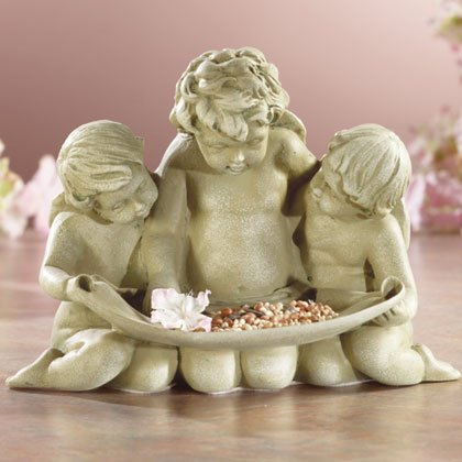 Cherub Trio Bird Feeder