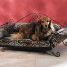 Leopard Print Metal Pet Bed