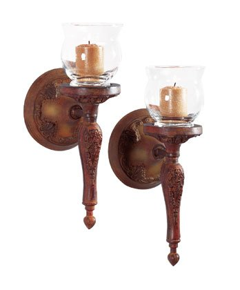 Liberty Bronze Candle Wall Sconce