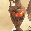 Antique-Look, Fruit Design Decorative Pitcher.