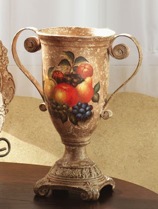 Antique-Look, Fruit Design Decorative Urn.