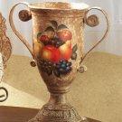 Antique-Look, Fruit Design Decorative Urn.