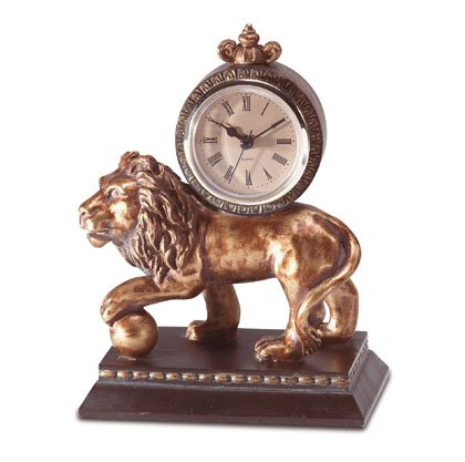 Lion Design Desk Clock