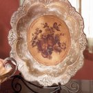 Antique-Look Rose Design Decorative Plate.