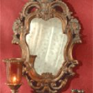 Baroque-Style Antique Design Gold Finish Mirror.