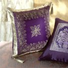 Purple Fabric Throw Pillow.