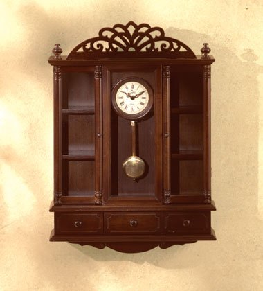 Hand-Crafted Pendulum Clock and Curio Cabinet.