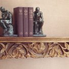 Intricately Carved Mango Wood Shelf.
