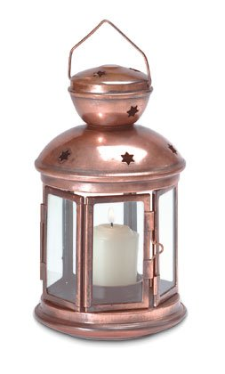 Colonial-Style Metal Candle Lamp.