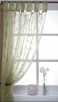 Sheer Embroidered Curtain.