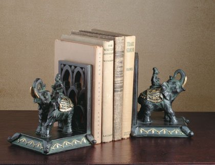 Monkey and Elephant Bookends.