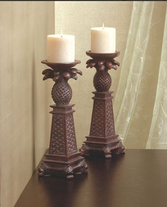 Pineapple Motif Candle Holders.