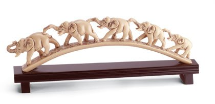 Elephants crossing bridge of hope