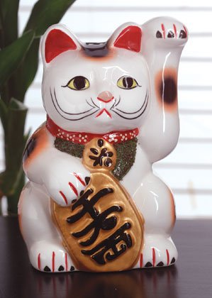 Mi-ke statue in colorfully hand-painted ceramic