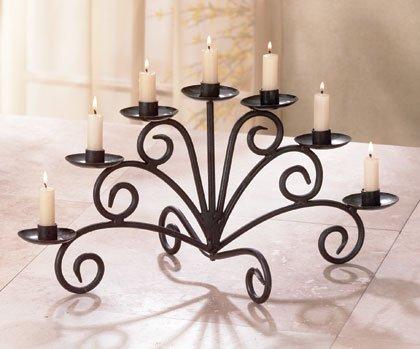 Seven candle candelabra
