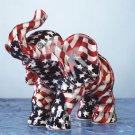 American Flag Patchwork Elephant