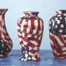 American Flag Patchwork Bud Vases