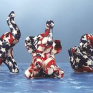 Miniature American Flag Patchwork Elephants