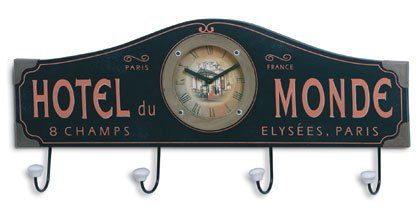 Hotel Du Monde Clock and Coat Hanger