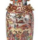 Oriental Vase Village Scene