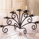 Wrought Iron Swirl Candelabra