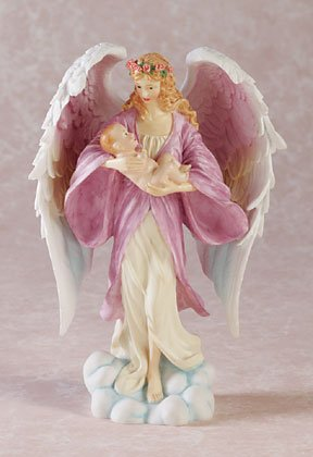 ANGEL CRADLING INFANT
