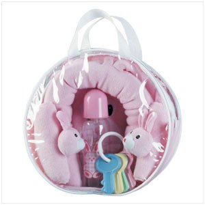 Pink Bunny Car Kit and Car Seat Cover
