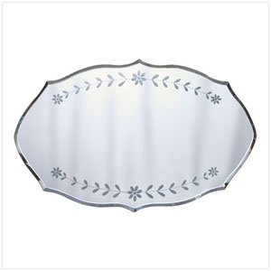 ETCHED FLORAL WALL MIRROR