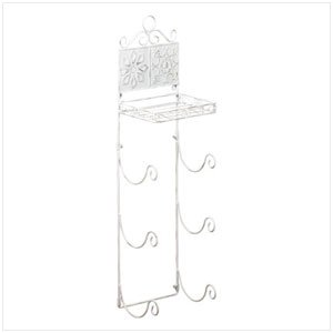 FLORAL TILED TOWEL RACK