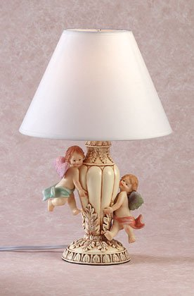 A CHERUB TABLE LAMP