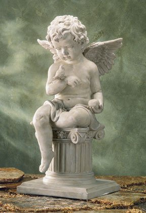 CHARMING CHERUB GARDEN SCULPTURE