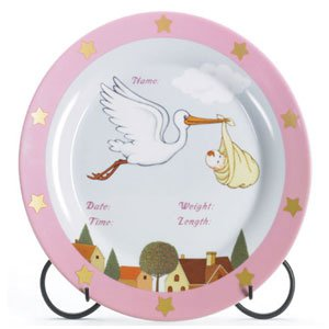 ITS A GIRL ANNOUNCEMENT PLATE