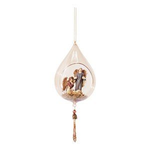 AMBER GLASS ANGEL ORNAMENT