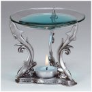 PEWTER DOLPHIN OIL BURNER