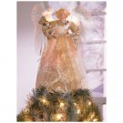 FIBER OPTIC GOLD ANGEL TREE TOPPER