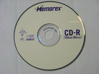 5 Pack Memorex 24x CD-R CDR blank disc 700MB data 80min music with sleeve