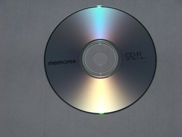 5 Pack Memorex 52x CD-R CDR blank disc 700MB data 80min music with sleeve