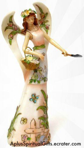 "NEW Angel Figure Springtime Passion in the Garden 8.75"" Angel Figure"
