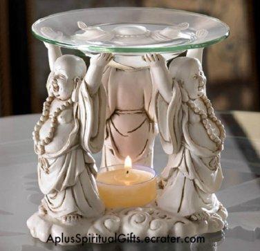 NEW Happy Buddhas Tealight Oil Warmer
