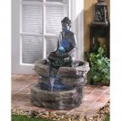 "NEW Sitting Buddha Holding Orb Water Fountain 21 1⁄8"" x 20 1⁄8"" x 29 3⁄8"""