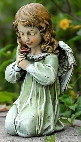 """NEW Kneeling Angel Statue 12"""" x 6.5"""" x 6.25"""""""