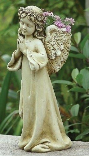"NEW Praying Angel Flower & Plant Planter Figure 16"" H"