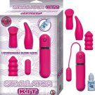 EROTIC BULLET & STIMULATION KIT PINK VIBRATOR SEX TOY