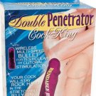 DOUBLE PENETRATION Cock & Adjustable Jelly Cock Ring Sex Toy Purple