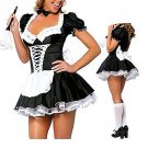 NAUGHTY MAID UNIFORM COSTUME DRESS ONE SIZE HALLOWEEN OR ROLEPLAY