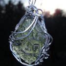 7.4g Moldavite Wrapped in Silver