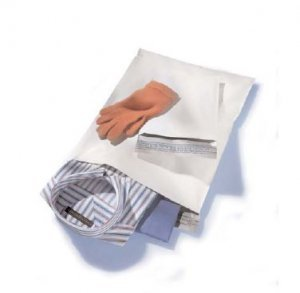 25 14.5x19 WHITE POLY MAILERS ENVELOPES BAGS MAILER 14.5 x 19